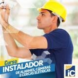 Curso de instalação de alarme valor na Vila Buenos Aires