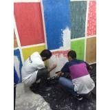 Curso para pintores valores na Vila Esperança