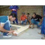 Curso profissionalizante de pedreiro na Vila União